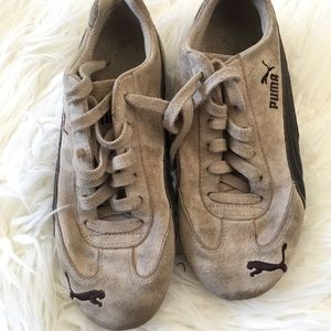 1f58ba81dc95 Vintage Puma speed cat tan and brown sneakers